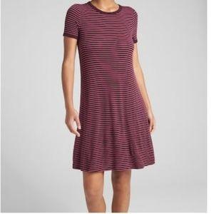 Short Sleeved Ribbed T-Shirt Dress